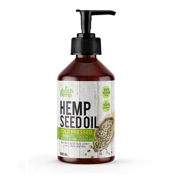 Dutch Hemp CBD-Hanfsamenöl - 250 ml - 250 mg CBD