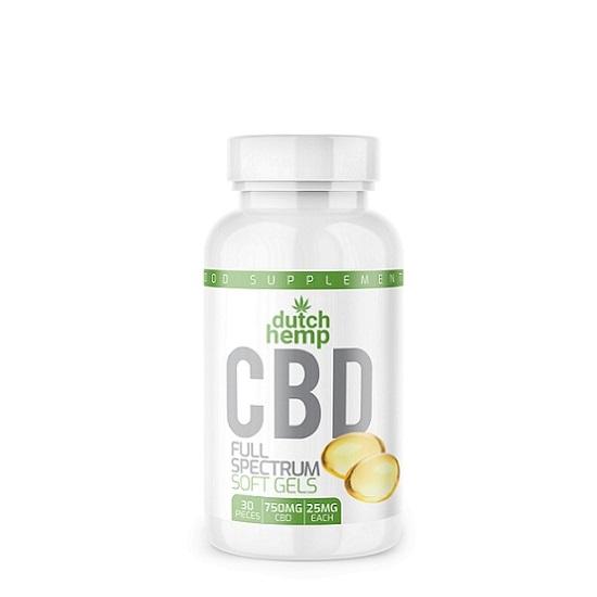 DutchHemp CBD-Kapseln - 30 Stück - 750 mg CBD